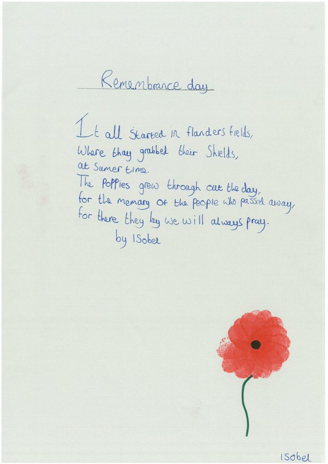 11th November – Poems of Remembrance | Wensum Junior School