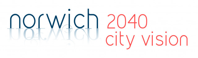 Norwich 2040 city vision logo update 2018