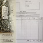 B&Q receipt for wood and screws.